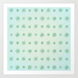 Bee Pattern, soft fuzz Art Print