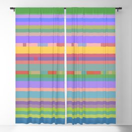 Bright Mosaic Stripes Blackout Curtain