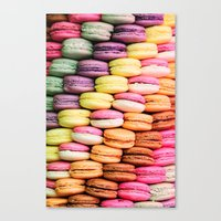 macaroons Canvas Prints featuring Macaroons by lescapricesdefilles