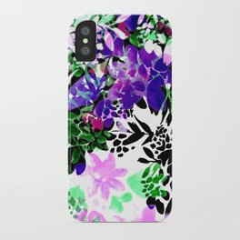 Painty Flowers iPhone Case