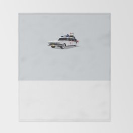 Ghostbusters Illustrated Ecto 1 Throw Blanket