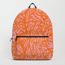 Summer Orange Saffron - Abstract Botanical Nature Backpack