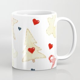watercolor christmas pattern Coffee Mug