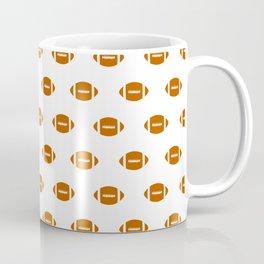 Texas longhorns orange and white university college texan football pattern Coffee Mug