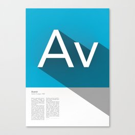 The Typographic Alphabet: Avenir (1/26) Canvas Print