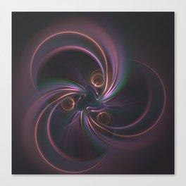 Moons Fractal in Warm Tones Canvas Print