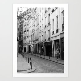 Paris in Black and White, Quartier Latin Art Print