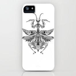 MANTIS beetle psychedelic / zentangle style iPhone Case