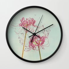 Spider Lily Autumn Botanical Wall Clock