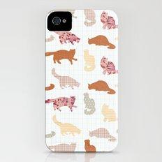 cats pattern iPhone (4, 4s) Slim Case