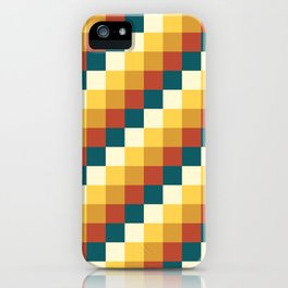 My Honey Pot - Pixel Pattern in yellow tint colors iPhone Case