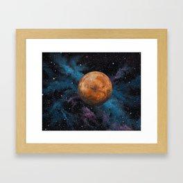 Mars and Stars Framed Art Print