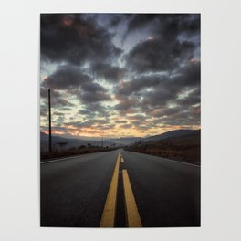 Road Sunrise Poster