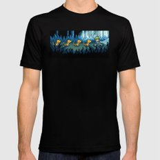 Pixel Jurassic World 2X-LARGE Black Mens Fitted Tee