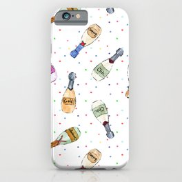 Champagne party - watercolor bottles iPhone Case
