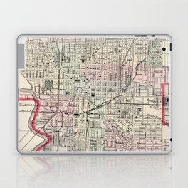 Vintage Map of Indianapolis Indiana (1884) Laptop & iPad Skin