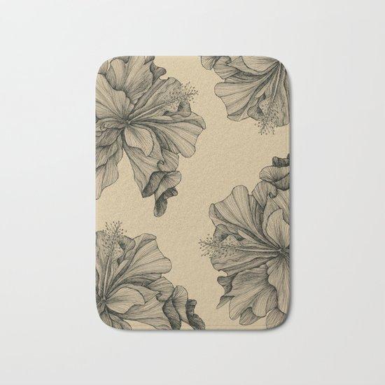 flor pattern Bath Mat