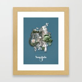 Nangijala –Blue Framed Art Print