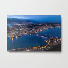 Panoramic Tromso Metal Print