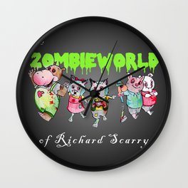 The Zombie World of Richard Scarry Wall Clock