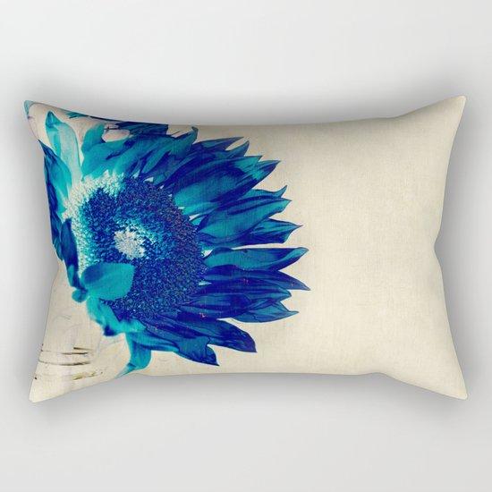 Sapphire Petal Rectangular Pillow