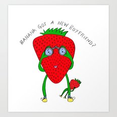 Fruit stalking Art Print