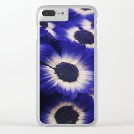 Blue Cineraria Clear iPhone Case