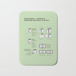 Buchbinden – Merkmale Broschur und Buch im Detail (in German) Bath Mat