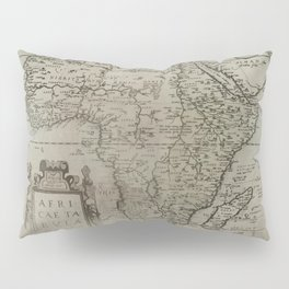 Vintage Africa Map Pillow Sham