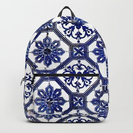 Blue and White Portuguese Tile - Backpack
