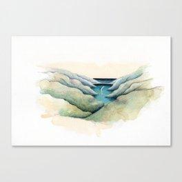 The sleeping whale Canvas Print