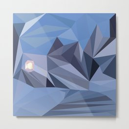 abstract pattern geometric triangle mosaic background low poly style Metal Print