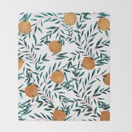 Mandarins Throw Blanket