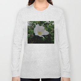Wild White Rose in Full Bloom Long Sleeve T-shirt