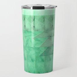 Marble Print Green Travel Mug