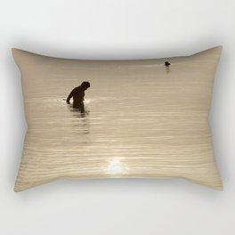 Silhouette of man Rectangular Pillow