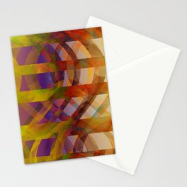 Abstract Design colorful abstract art by Ann Powell Stationery Cards