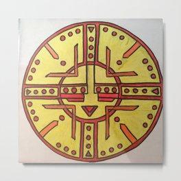 Tribal sun Metal Print