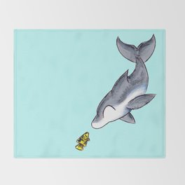 Hello, Fishy! Throw Blanket