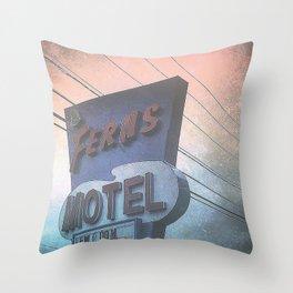 Fern Hotel Throw Pillow