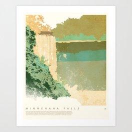 Minnehaha Falls - Minneapolis, MN Art Print