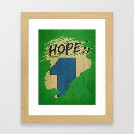 Hope!! (time machine ) Framed Art Print