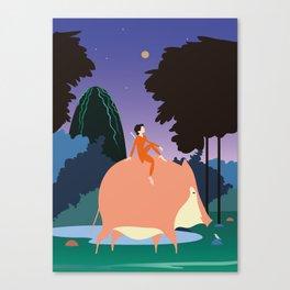 Pig boy Canvas Print