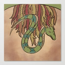 The Guardian Serpent Canvas Print