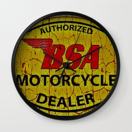 Vintage Painted  Motorcycle Sign Wall Clock
