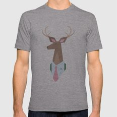 Deer Dad is a Dear Dad Mens Fitted Tee Athletic Grey SMALL