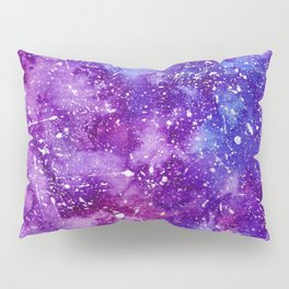 Artistic white paint splatters pink purple watercolor Pillow Sham