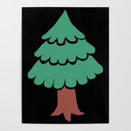 Simple Evergreen Tree Poster