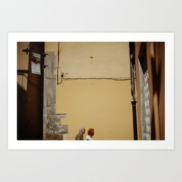 A street scene from Tuscany. Art Print