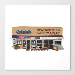 Coledale Newsagency and Supermarket Canvas Print